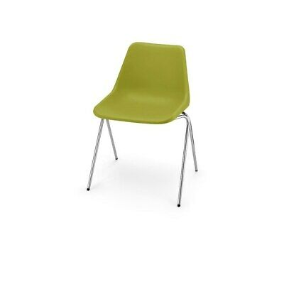 £87 • Buy Hille Olive Green Robin Day Poly Side Plastic Chair