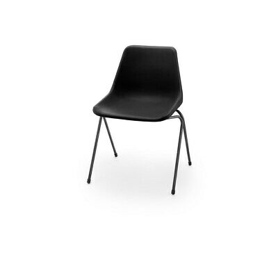 £87 • Buy Hille Black Robin Day Poly Side Plastic Chair