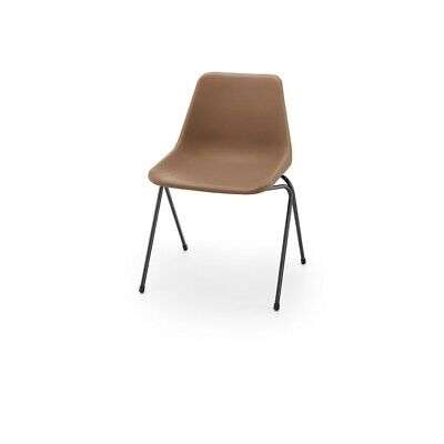 £67 • Buy Hille Brown Robin Day Poly Side Plastic Chair