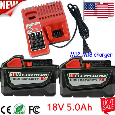 $48.01 • Buy For Milwaukee M18 XC 5.0AH Extended Lithium-ion Battery 48-11-1890 Fast Charger