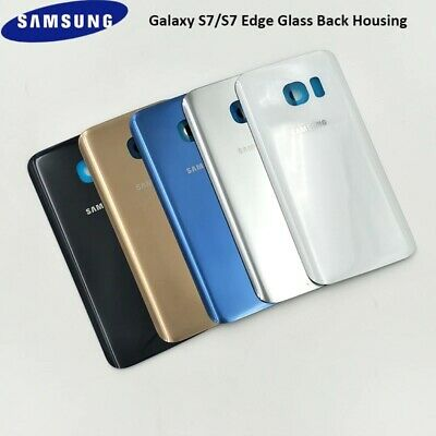 $ CDN8.64 • Buy For Samsung Galaxy S7 / S7 Edge Back Glass Rear Glass Battery Cover Replacement