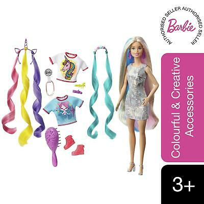 £20.99 • Buy Barbie Fantasy Hair Doll With Mermaid And Unicorn Accessories