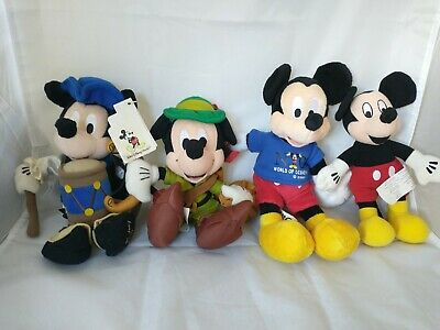 £18 • Buy Mickey Mouse Disney Bean Bag Bundle - 3 Themed And 1 Classic Soft Toys