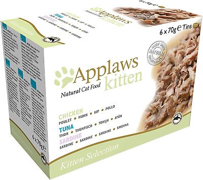 £7.99 • Buy Applaws Natural Cat Food, Kitten Multipack Chicken And Fish Selection In Broth T