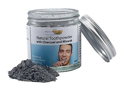 £8.99 • Buy Charcoal And Miswak Natural Tooth Powder, 60ml