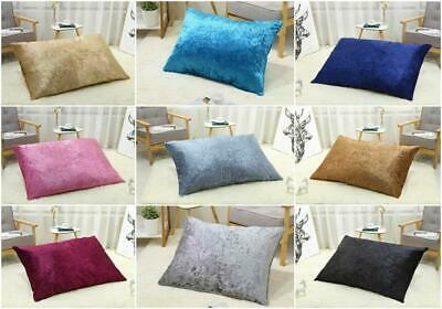 £14.95 • Buy Large FILLED Crushed Velvet Cushions Indoor Outdoor Floor Cushion Pad Dog Bed