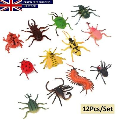 £6.19 • Buy 12Pack Plastic Mini Insects Bugs Model Action Figure Kids Toys Gift Jungle Decor