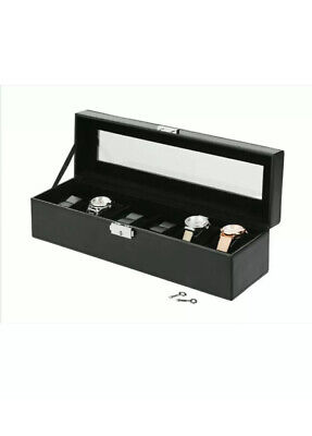 $ CDN25.72 • Buy Watch Box, 6 Seperate Compartments, In Leather Look Watch Collection Auriol