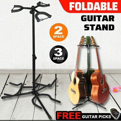 AU32.99 • Buy Guitar Stand Double Self Locking Folding Acoustic Bass Electric Heavy Duty