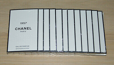 £38.94 • Buy Chanel Les Exclusifs 1957 Edp Sealed Pack Of 12 Samples X 1.5ml Each