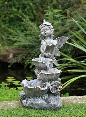 £83.50 • Buy Garden Water Feature Fountain LED Lights Indoor Outdoor Statues Decor Ornament