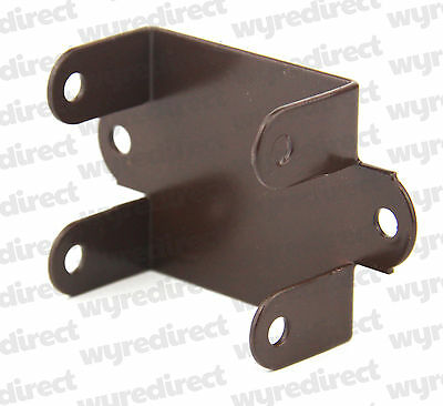 £6.45 • Buy Fence Panel Clips / Trellis Clip Brackets 32mm Easy Fit Brown Coated