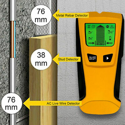 £17.28 • Buy 3 In 1 LCD Wood Wall Metal Detector Stud Center Finder AC Live Wire Scanner Tool