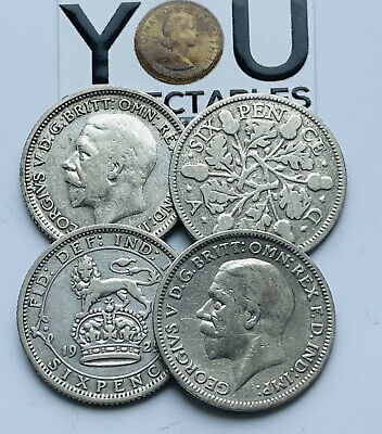 £4.49 • Buy 1920 To 1936 King George V Sixpences Sterling Silver Coin - Choose Your Year