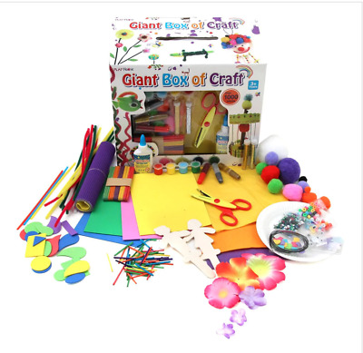 £9.99 • Buy Arts And Crafts Box Set 1000 Pieces Kit Kids Creative Toys Children Drawing NEW