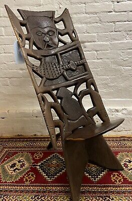 £95 • Buy Unusual African Carved Feature Thrown Chair / Seat