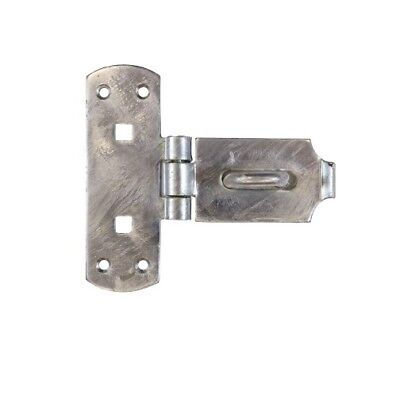 £10.35 • Buy Heavy Duty Vertical Hasp And Staple Galvanised Gate Shed Padlock BRASS PINS