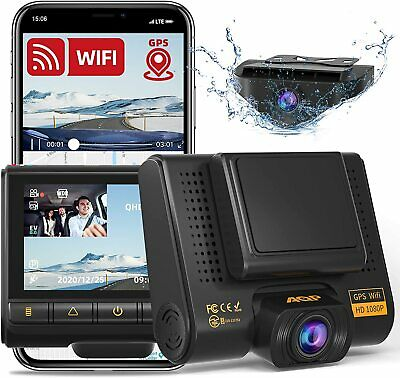 AU147.41 • Buy Dual Dash Cam, Full HD 1080P Car Camera Front And Rear For Cars, Dashboard