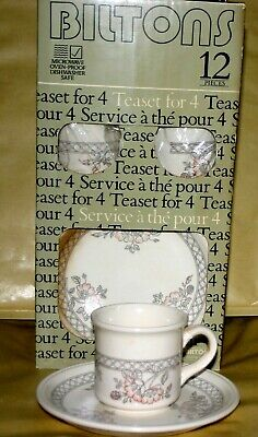 £17.99 • Buy Rare Vintage Biltons Pottery 12 Piece Teaset Brand New Boxed Cups Saucers Plates