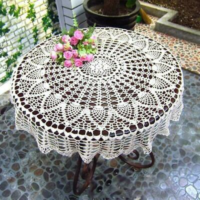 £7.99 • Buy Handmade Crochet Round Tablecloth Lace Table Cover Cup Mat Placemat Table Cloth