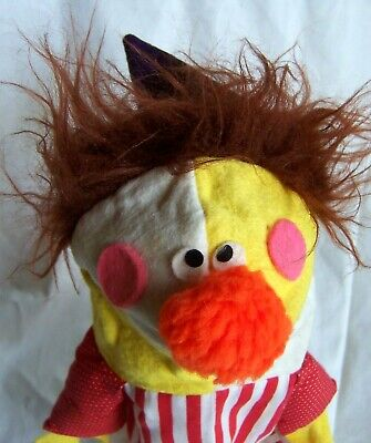 £14.15 • Buy VTG 1983 12  CRAZY CRITTERS Clown Hand Puppet - Redwood CA Toy