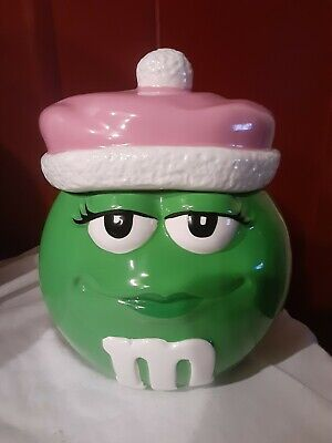 $17.99 • Buy Ms. Green M&M Cookie Jar With Pink Hat