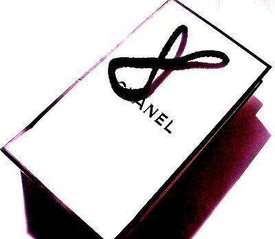 £2.89 • Buy CHANEL, Small White And Black Gift Bag, Authentic