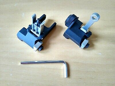 £15 • Buy Airsoft KAC Style Metal BUIS Flip-Up Front Rear Sight Set