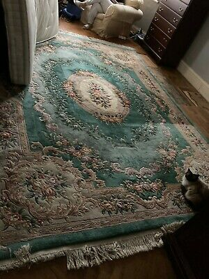£500 • Buy Chinese Rug , Green Pattern Extra Large Size 12.5 Feet (150 ) X 9'2  Feet (108 )