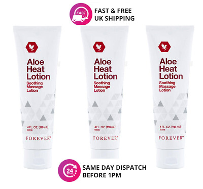 £32.45 • Buy 3 ✖ Forever Living Aloe Heat Lotion Soothing Massage Lotion 118ml Original
