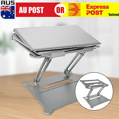 AU35.99 • Buy Foldable Laptop Stand Adjustable Notebook Portable Tray Lazy Computer Desk O