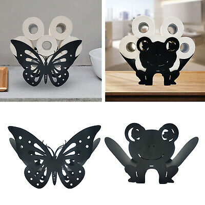 AU28.73 • Buy Iron Rack Black Toilet Paper Roll Holder Storage Stand Free Standing Statue