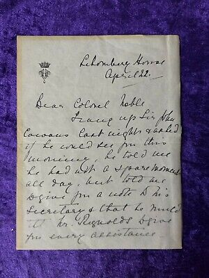 £69.99 • Buy Princess Helena Victoria Hand Signed Letter - Granddaughter Of Queen Victoria