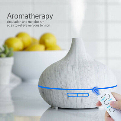 AU48.42 • Buy 550ml Essential Oil Diffuser With Remote Control For Aromatherapy Portable