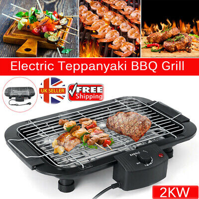 £24.89 • Buy Indoor/Outdoor Portable Electric Barbecue Grill Cooking Smokeless BBQ 2000W