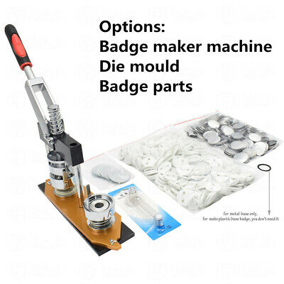 £43.99 • Buy 25-58mm Badge Maker Machine/Die Mould/300Sets Button Parts Badge Pin Punch Press