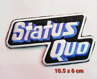 £1.85 • Buy Status Quo English Rock Band Embroidered Iron Or Sew On Patch