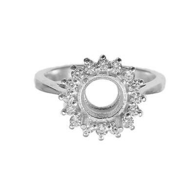 £20.65 • Buy Silver Engagement Semi Mount Ring Setting 12 Mm,14 Mm,16 Mm Round Rings Blanks