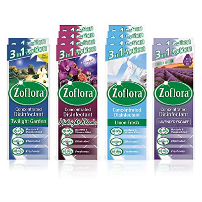 £21.25 • Buy BULK: ZOFLORA Concentrated Antibacterial Disinfectant, 120ml - (12 PACK)
