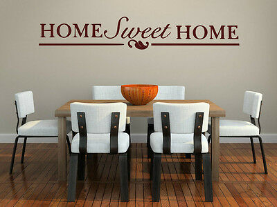 £19.99 • Buy Home Sweet Home Wall Sticker Large 180cm X 30cm Kitchen Dinning Room Porch Decal