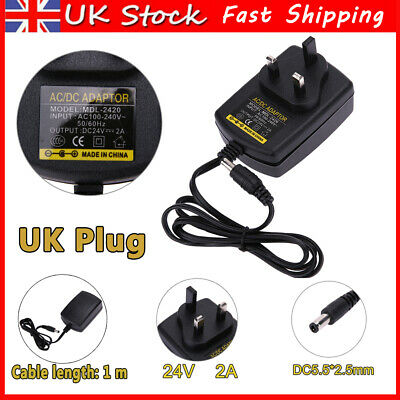 £6.29 • Buy DC24V 2A UK Plug Adapter AC 100V-240V To DC 24V Converter Power Supply Charger