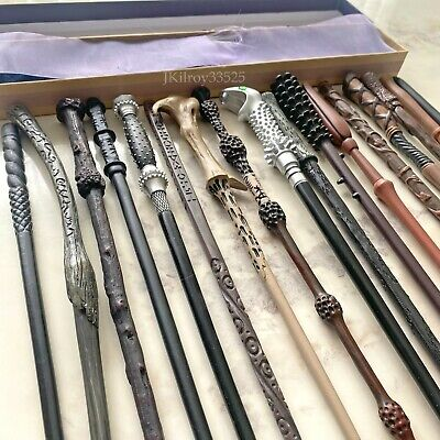 £15.99 • Buy HP Wands In Presentation Box With Ribbon Cosplay Prop Metal Core UK SELLER