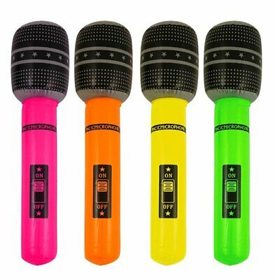 £3.99 • Buy 40cm Inflatable Microphone Party Toys Decorations Fancy Dress Music Instruments