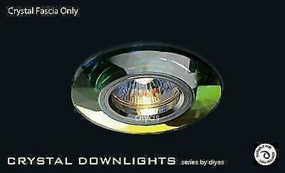 £18.50 • Buy Diyas IL30816MC Crystal Downlight Chamfered Round Complete With Lamp Holder