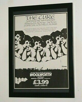 £13.99 • Buy THE CURE Framed A4 1983 `Japanese Whispers` ALBUM Original Band Promo Poster