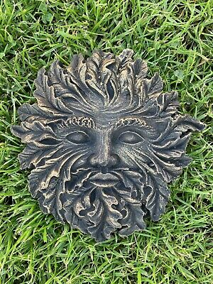 £9.99 • Buy Green Man Lady Of The Forest Wall Plaque Pagan Wiccan Garden Ornament Decoration