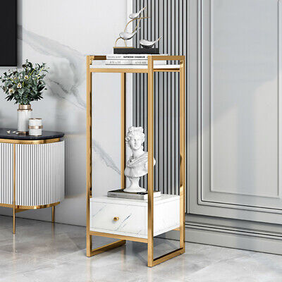£47.99 • Buy Tall Telephone Bedside Side End Table Hall Lamp Nightstand Plant Stand Drawer