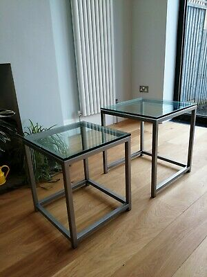 £29.99 • Buy Glass Top Nest Of Tables