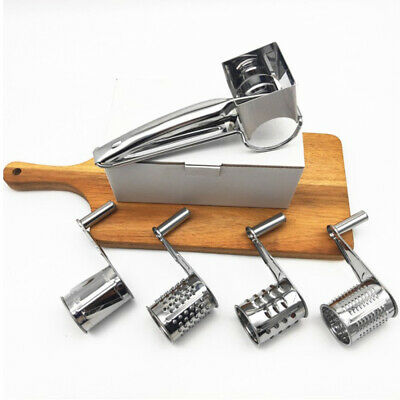 £9.29 • Buy  Multifunction Rotary Cheese Grater Hand Held Slicer Stainless Steel Herbs Mill