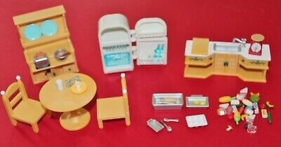 £17.69 • Buy Epoch Calico Critters Country Home Kitchen Furniture With Lots Of Accessories